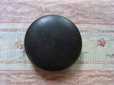 1 ancien bouton bois lisse marron N06  diam 3,5cm VINTAGE Old brown wood button