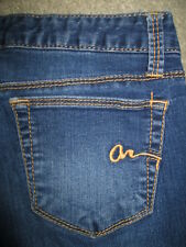 AMERICAN RAG Skinny Stretch Dark Blue Denim Jeans Womens Size 3 R x 28.5