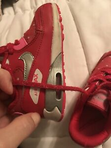 """PreOwned Nike Air Max 1 """"Air Max Day""""  size 7c Toddler Red Pink Valentine Lim"""