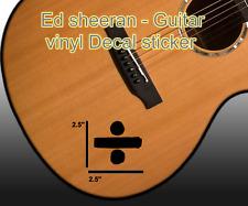 Ed sheeran - Guitar Division symbol - vinyl Decal sticker - Car- laptop-window