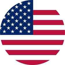 5x5 Circular American Flag Sticker Vinyl Car Door Truck Window Bumper Stickers