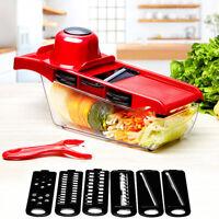 Gemüsehobel 6tlg. Küchen Reibe Gemüse Schneider Würfel Hobel Gemüseschneider