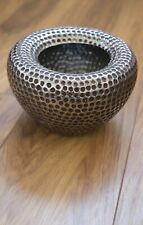 Silver Planter Pot Ceramic Pottery Dimple Dot Orchid Planter House Plant Large