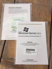5er User CALs für Microsoft Windows 2003 TerminalServer mit MwSt Rechnung