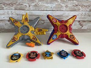 Power Rangers Ninja Steel Deluxe Gold & Red Star Morphers with 5 Ninja Stars