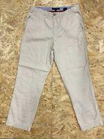Men's TOMMY HILFIGER REGULAR FIT CHINO Trousers - W34 L32 - Beige Khaki