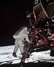 NASA Apollo 11 Astronaut Buzz Aldrin descends Lunar Module steps New 8x10 Photo