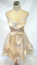 NWT MASQUERADE Champagne Cocktail Prom Dress 5