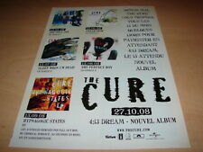 THE CURE - 4:13 DREAM!!SINGLES!!!!!! PUBLICITE / ADVERT
