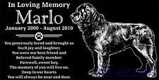 New ListingPersonalized Newfoundland Dog Pet Memorial 12x6 Granite Headstone Grave Marker