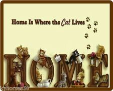 Cat Humor Home Is Where The Cat Lives Refrigerator Magnet
