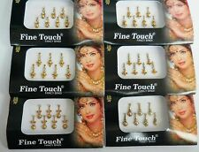 Fine Touch Gold Color Indian Bindi Tattoos Stickers Forehead Tattoo Tika Golden