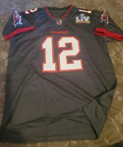 Tampa Bay Buccaneers #12 Tom Brady Gray Alter SB55 Patch Jersey Men Size Large