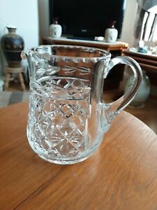 LEAD CRYSTAL WATER JUG/PITCHER 2PINT