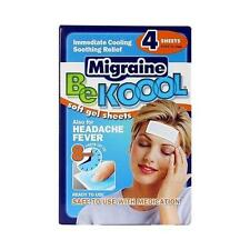 Be Koool Fever Cooling Soft Gel Sheets Migraine for Adults - 4 ct