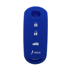 Navy Blue Silicone Key Fob Case Key Cover Holder fit for Mazda 3 6 SMART Key