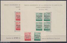 AYUNTAMIENTO DE BARCELONA - ** 40/41 HOJAS BLOQUE + SH - AÑO 1942 NAVIDAD - LUJO