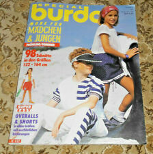 Kinder - Mode Burda von 1991 Nähen Handarbeitsheft Schnittmuster
