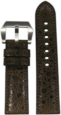 24mm RIOS1931 for Panatime Mocha Toad Watch Strap with Match Stitching 24x22
