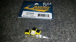 Rapido Bits HO Scale Step Boxes Yellow 4 per pack.