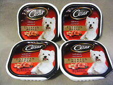 CESAR WITH BEEF ENTREES FOR DOGS - FOOD FOR SMALL DOGS - 4 PACKAGES - 400 g