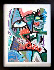 NEO EXPRESSIONISM PAINTING ORIGINAL CANVAS NEW MODERNIST GALLERY SIGNED NUMBER
