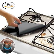 4 Pack Reusable Stove Top Protector Foil Gas Hob Range Burner Cover Liner Clean
