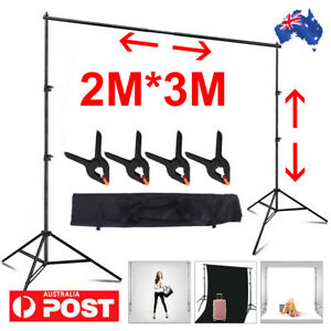 Photography Studio Adjustable Backdrop Stand Screen Background Support Hold KIT