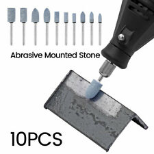 10X 4-10mm Abrasive Polishing Mounted Stone Rotary Tool Grinding Wheel Drill Bit