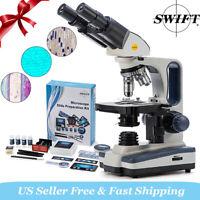 SWIFT 40X-2500X Siedentopf Binocular Compound Microscope w/ 66 Experimental Set
