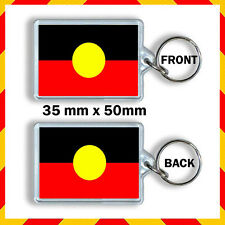 AUSTRALIAN ABORIGINAL FLAG -35X50mm KEYRING – KEY CHAIN