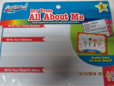 New Dry Erase Boards All About Me 2-Sided Art Skills Toddlers Kids Child Age 3+