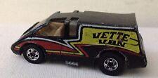 Hot Wheels 1980 Hi-Rakers 'Vette Van Chevrolet Corvette Black bw Hong Kong