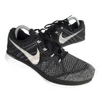 Nike Flyknit Lunar 3 Mens Size 9.5 Black White Athletic Running Shoes Sneaker