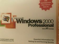 SEALED MICROSOFT WINDOWS 2000 PROFESSIONAL FULL OPERATING DISK WITH LIC.