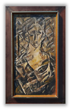 Wonderful Cubist painting signed 20th century Oil on canvas PICASOO style framed