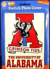 NCAA light switch cover U of Alabama Crimson Tide single switch MadeUSA LS-10067