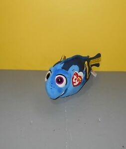 Ty Disney Sparkle Beanie Babies Boos Finding Dory Blue Tang Dory Fish Plush w/