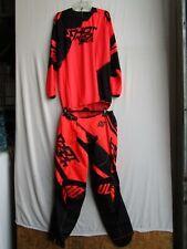 SHOT race gear CLAW combo set motocross men's pants 32, jersey XL neon orange