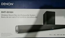 Brand New with WARRANTY Denon DHT-S516H Soundbar + Wireless Subwoofer- Black
