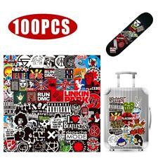 100 Stickers Rock Band Punk Music Heavy Metal Bands Theme Laptop Car Bumper