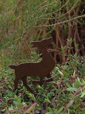Miniature Dollhouse FAIRY GARDEN Accessories ~ Rustic Metal Deer Pick ~ NEW