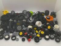 800g Lego mixed Bundle technics Wheels rims some Axles bundle Joblot CC3