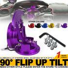 Flip Up Steering Wheel Quick Release Hub Adapter Body Snap Off Boss Kit Purple