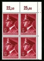 DR Nazi 3rd Reich Rare WW2 Stamp Hitler Head Fuhrer Birthday Swastik Uniform War