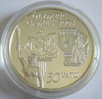 Vanuatu 50 Vatu 2003 Olympia Athen Fackelträger Silber