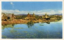 Postcard Peru Puno Lake Titicaca Uros Floating Islands La Isla Flotante 1963