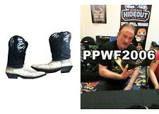 WWF WWE JAKE THE SNAKE ROBERTS RING WORN HAND SIGNED BOOTS WITH PROOF AND COA