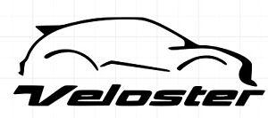 VELOSTER VINYL STICKER for Hyundai Veloster WITH 7 YEAR VINYL KDM KIA RACING