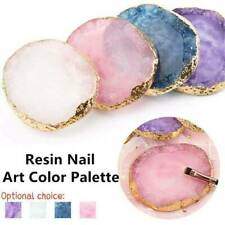 Natural Resin Stone Color Square Palette Gel Polish Display Nail Art Tool UK